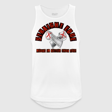 Straight edge red - Men's Breathable Tank Top