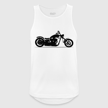 Motorcycle chopper silhouette - Men's Breathable Tank Top