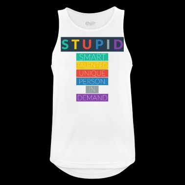 STUPID - Men's Breathable Tank Top