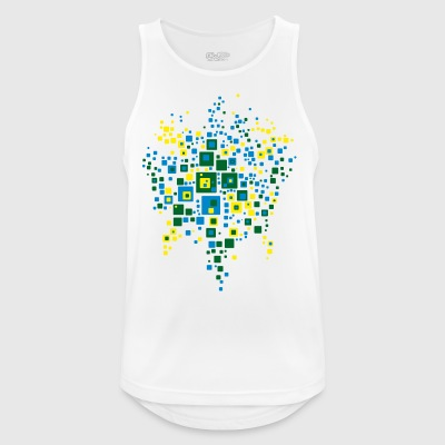 world map colors brazil - Men's Breathable Tank Top