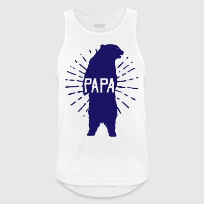 Papa Bear Fathers Day - fathers day - Men's Breathable Tank Top