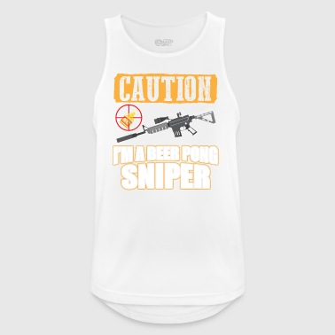 BEER PONG SNIPER - Men's Breathable Tank Top