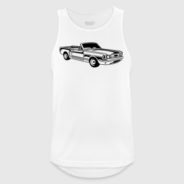 Convertible / Muscle Car 02_black - Men's Breathable Tank Top