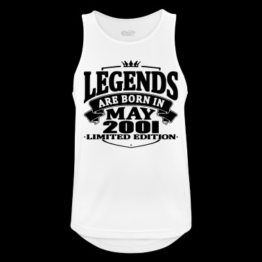 Legends are born in may 2001 - Men's Breathable Tank Top
