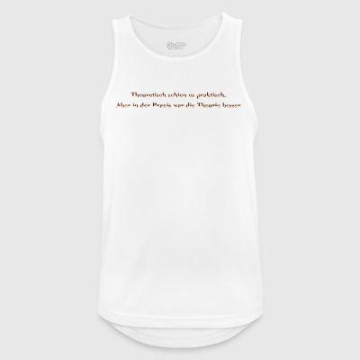 practically theoretical in brown - Men's Breathable Tank Top