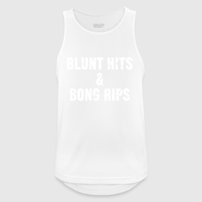 Blunt hits & bong rips - Men's Breathable Tank Top