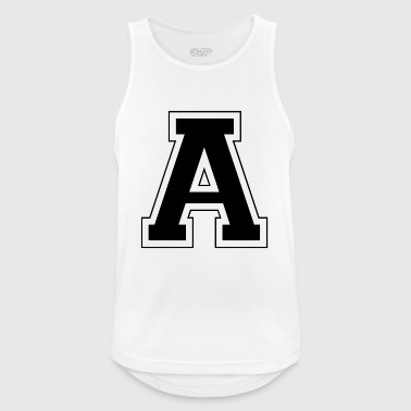 Letter A - Men's Breathable Tank Top