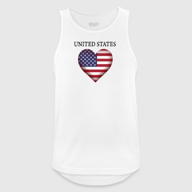 United States - Men's Breathable Tank Top