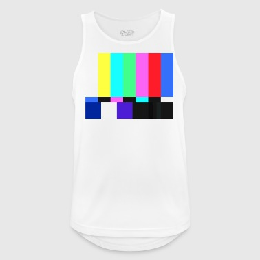 Test Card.Test Pattern. Retro Television Crew.SALE - Men's Breathable Tank Top