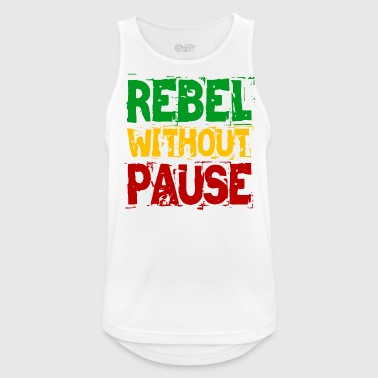 Rebel uten pause - Pustende singlet for menn