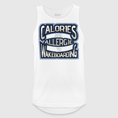 Wakeboard calorie allergic wakeboarding gift - Men's Breathable Tank Top