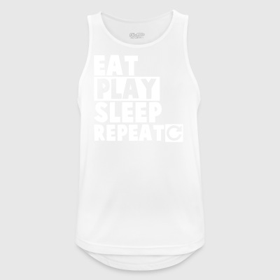 Eat,Play,Sleep,Repeat (White) - Men's Breathable Tank Top