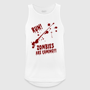 RUN ZOMBIES ARE COMING HALLOWEEN GIFT OCTOBER - Men's Breathable Tank Top