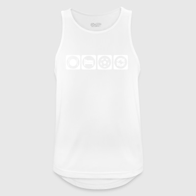 gift eat sleep repeat football ultras stuermer - Men's Breathable Tank Top