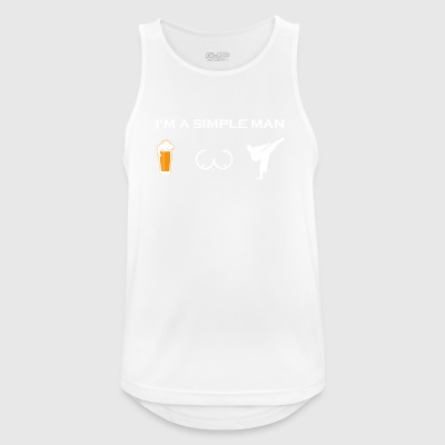 simple man like boobs bier beer titten karate kick - Männer Tank Top atmungsaktiv
