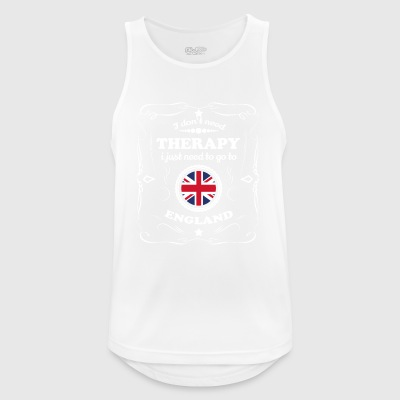 DON T NEED THERAPY WANT GO ENGLAND - Men's Breathable Tank Top