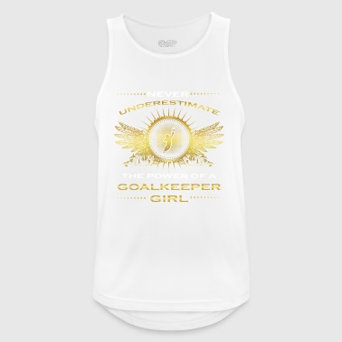 NEVER UNDERESTIMATE GIRL WIFE WOMAN GOALKEEPER - Men's Breathable Tank Top