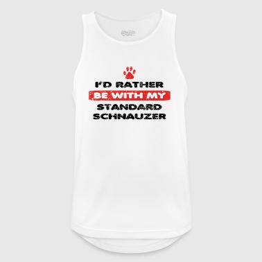 Dog dog rather love at my STANDARD SCHNAUZER - Men's Breathable Tank Top