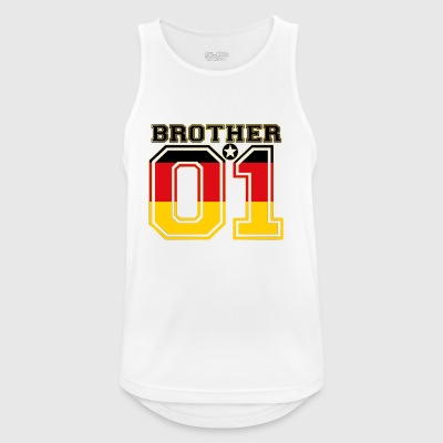 king bruder brother 01 partner Deutschland - Männer Tank Top atmungsaktiv