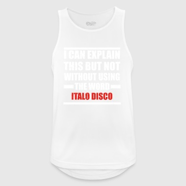 Can explain word hobby love ITALO DISCO - Men's Breathable Tank Top