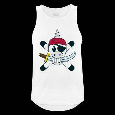 Unicorn meets Pirate - Funny Shirt - Men's Breathable Tank Top