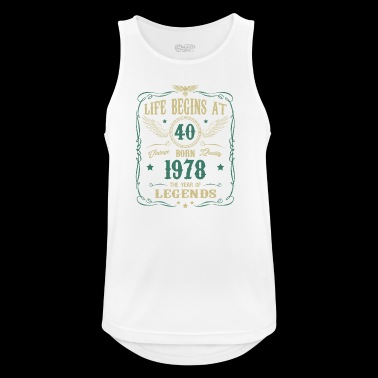 40th Birthday Gift - born in 1978 - Men's Breathable Tank Top