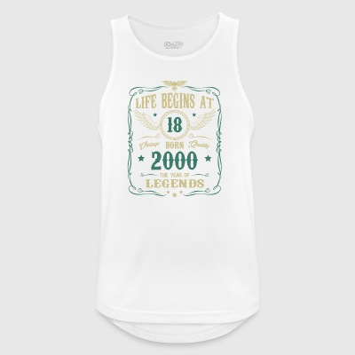 18th Birthday Gift - born in 2000 - Men's Breathable Tank Top