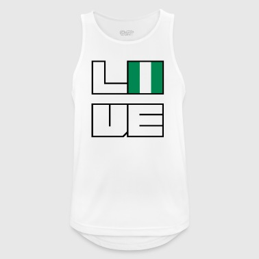 Love home roots roots Nigeria - Men's Breathable Tank Top