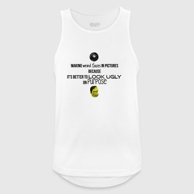 Weird faces in pictures - Men's Breathable Tank Top