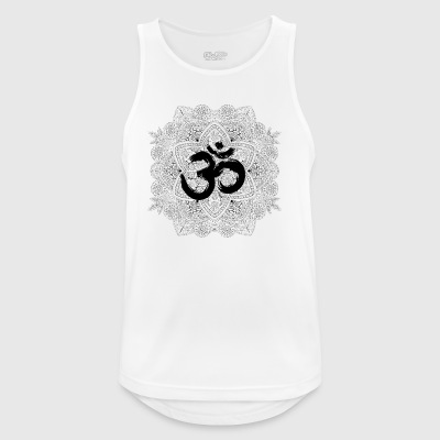 Mandala with Om, hand drawn - Men's Breathable Tank Top