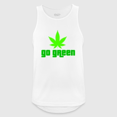 Ganja grass weed marijuana 420 smoke bong kiffen ne - Men's Breathable Tank Top