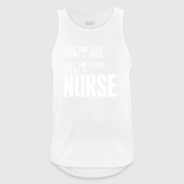 Nurse is a hero - Männer Tank Top atmungsaktiv