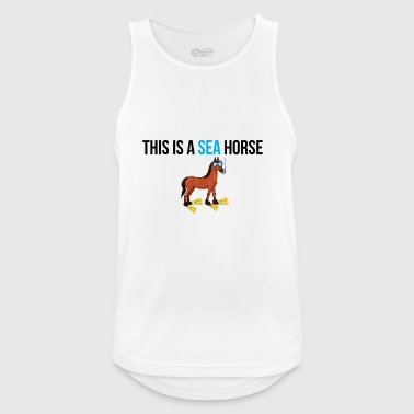 This is a SEA Horse - Men's Breathable Tank Top