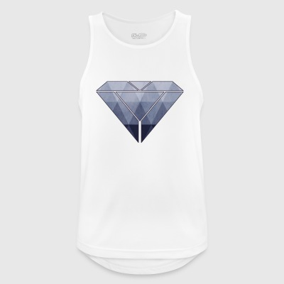 abstrakt diamant - Pustende singlet for menn