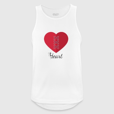 heart - Men's Breathable Tank Top