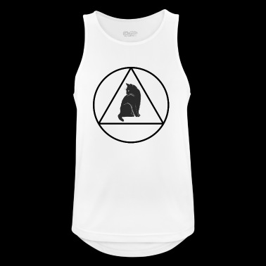Hipster triangle cat - Men's Breathable Tank Top