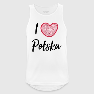 I love Poland - Men's Breathable Tank Top