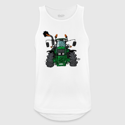 0175 Green tractor - Men's Breathable Tank Top