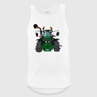 0175 tractor verde - Camiseta sin mangas hombre transpirable