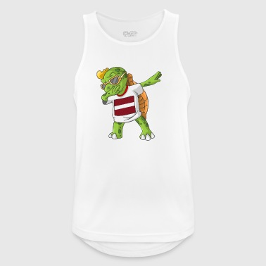 Latvia Dabbing turtle - Men's Breathable Tank Top