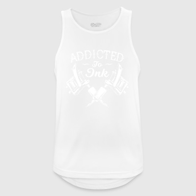 Addicted To Ink Tattoos Tattooed - Men's Breathable Tank Top
