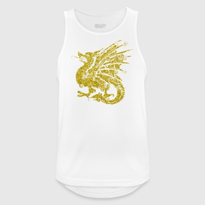 Golden Dragon drage huldreeventyr gave - Pustende singlet for menn