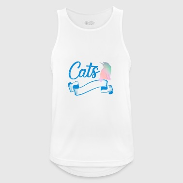Unicorn Cats Are Born In August - Men's Breathable Tank Top