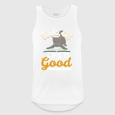 Books Cat Life Is Good - Men's Breathable Tank Top