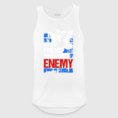 My best friend - your worst enemy - Men's Breathable Tank Top