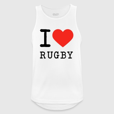 I love rugby - Men's Breathable Tank Top