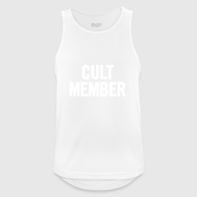 Cult Member White - Men's Breathable Tank Top