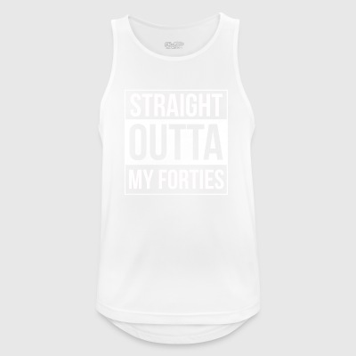 Straight Out Of My Forties - Men's Breathable Tank Top