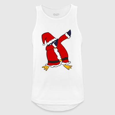 Dabbing Santa Penguin Funny Cute Christmas Holiday - Pustende singlet for menn