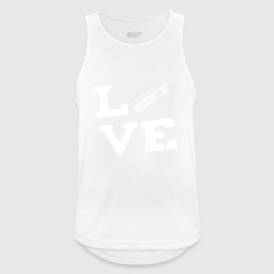 Keyboard computer programmer nerd love gifts - Men's Breathable Tank Top